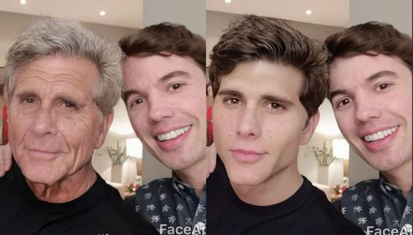 El actor Christian Meier bromeó con la aplicación de moda junto a su amigo Bruno Pinasco. (Captura Instagram)