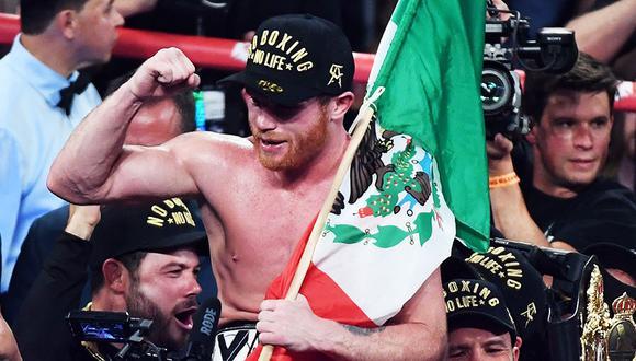 Canelo Álvarez y Rocky Fielding pelean hoy, 15 de diciembre, desde el Madison Square Garden de Nueva York. (Foto: AFP)