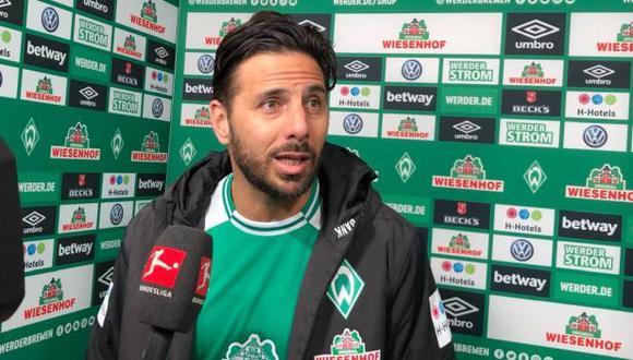 Claudio Pizarro fue suplente e ingresó a los 81' en duelo ante Bayern Munich. (Foto: Werder Bremen)