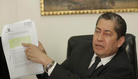 """Espinoza-Saldaña afirmó que el caso de Keiko Fujimori """"ha sido manejado prácticamente en tiempo récord"""". (Foto: GEC)"""