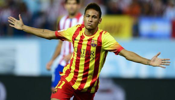 PRIMERA VEZ. Neymar anotó su primer gol oficial con el Barza. (AFP)
