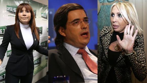 Magaly Medina y Jaime Bayly arremeten contra Laura Bozzo. (USI)