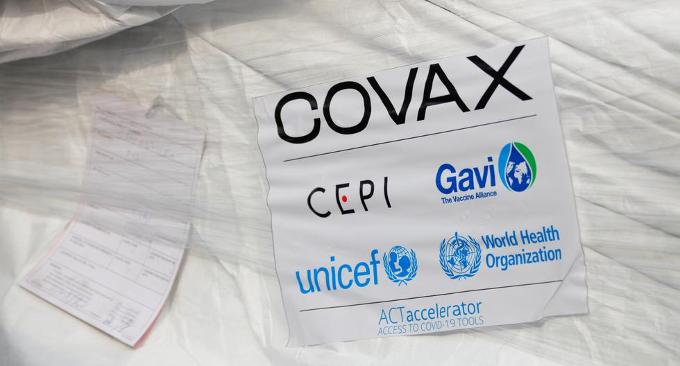 Imagen referencial. Se ve un paquete de vacunas AstraZeneca/Oxford mientras Ghana recibe su primer lote de vacunas contra la enfermedad por coronavirus (COVID-19) bajo el esquema COVAX, en el aeropuerto internacional de Accra, el 24 de febrero de 2021.  (REUTERS/Francis Kokoroko).
