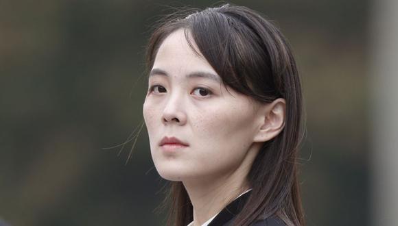 En esta foto de archivo del 2 de marzo de 2019, Kim Yo Jong, hermana del líder de Corea del Norte, Kim Jong Un, asiste a una ceremonia de colocación de ofrendas florales en el mausoleo de Ho Chi Minh en Hanoi, Vietnam. (Jorge Silva / Pool Photo vía AP)