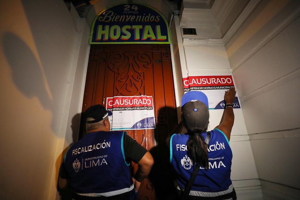 La Municipalidad de Lima clausuró en estos días 15 hostales donde se ofrecían servicios en condiciones insalubres. (Foto: Difusión)