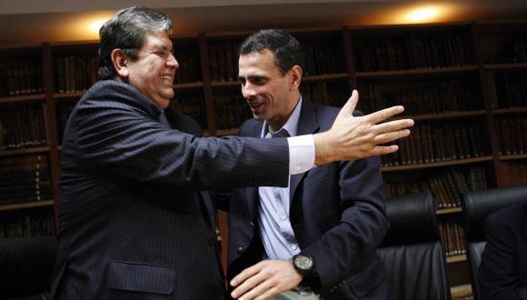 Respaldo. Líder venezolano se reunió con expresidente García. (Luis Gonzales)