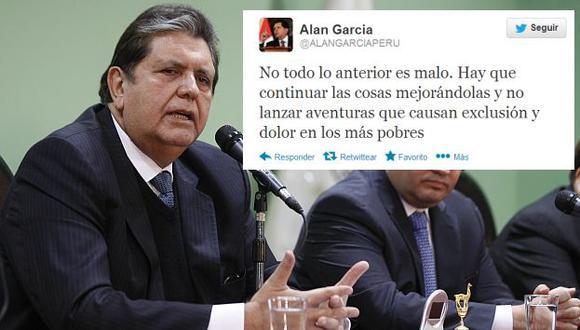 Alan García se manifestó una vez más en su Twitter. (David Vexelman)