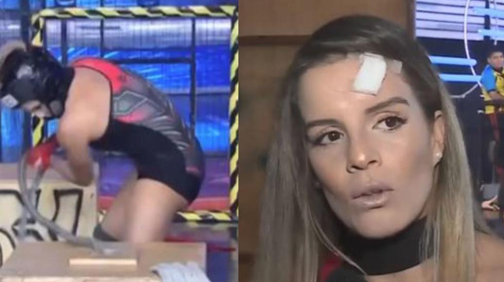 Alejandra Baigorria sufre grave lesión en 'Esto es guerra'. (Captura de pantalla)