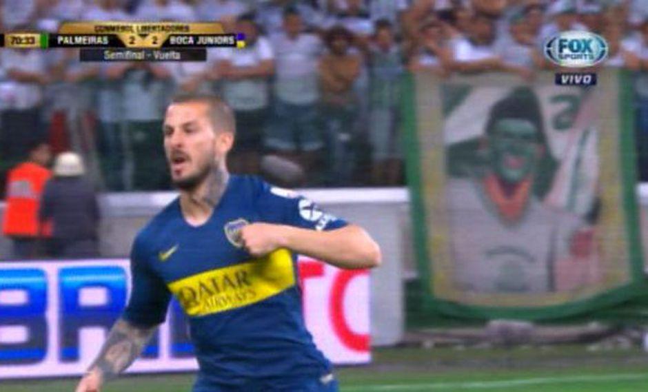 Darío Benedetto ingresó y marcó. Boca Juniors iguala 2-2 contra Palmeiras. (Video: Fox Sports)