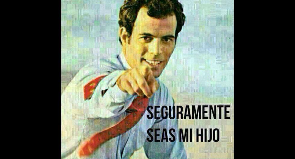 Por lo general, esta clase de memes muestran a Julio Iglesias como un padre que está muy orgulloso de su numerosa descendencia. (Fuente: Descerebrados.com)