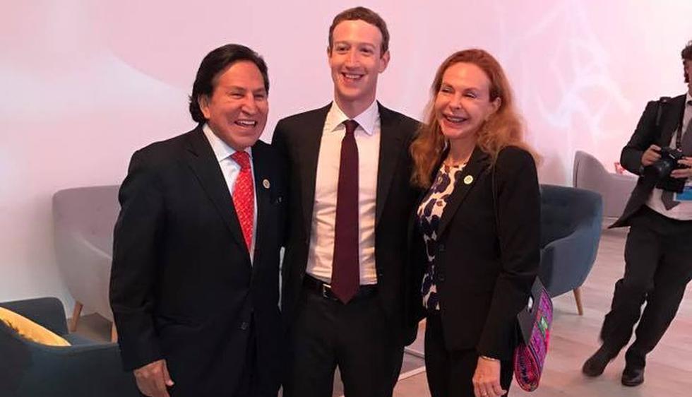 Alejandro Toledo se reunión con Mark Zuckerberg en la Cumbre APEC 2016. (Facebook Alejandro Toledo)