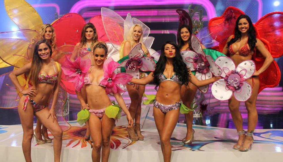 Las chicas de 'Combate' desfilaron con lencería primaveral. (Tuteve.tv)