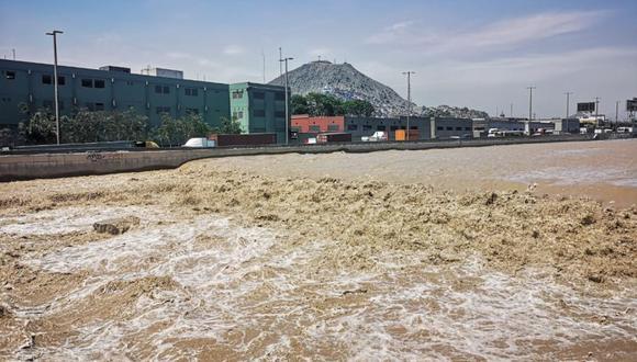 El caudal del río Rímac aumentó debido a las lluvias en la sierra central. (GEC)