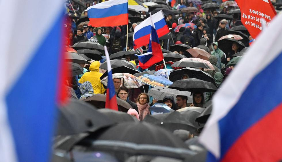 Al menos 40.000 manifestantes en Moscú para exigir elecciones libres. (Foto: AFP)
