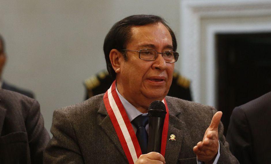 El presidente del Poder Judicial, Víctor Prado. (Foto: USI)
