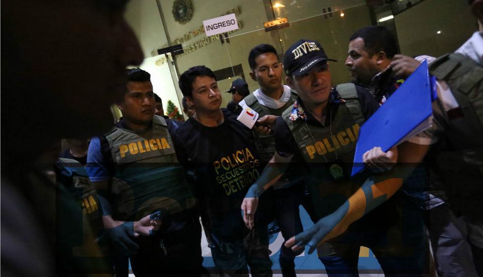 Ronny García fue trasladado al Ministerio Público. (Anthony Niño de Guzmán)