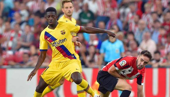 Ousmane Dembélé se perderá los próximos partidos del Barcelona. (Foto: AFP)