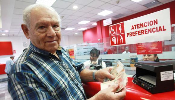 El Banco de la Nación inicia el lunes 7 de diciembre el pago de pensión y gratificación a jubilados. (Foto: Andina)