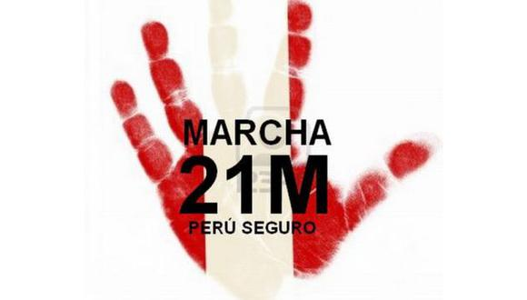 Foto: Marcha por la seguridad del Perú (Facebook)