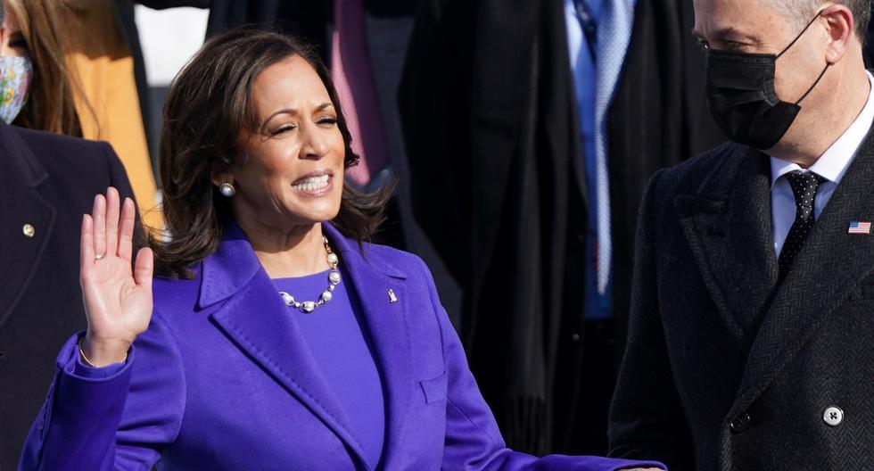 Kamala Harris, jura como primera vicepresidenta de Estados Unidos. (Foto: Reuters)