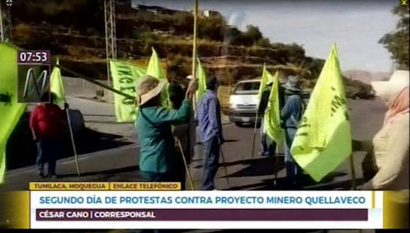 los pobladores piden al Gobierno que anule la licencia de construcción que tiene la mina Quellaveco. (Canal N)