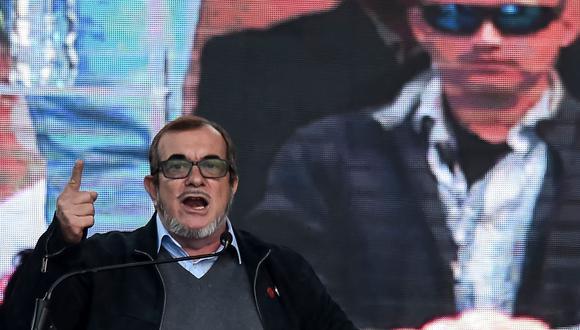 Rodrigo Londoño inició su campaña para el sillón presidencial de Colombia (AFP).