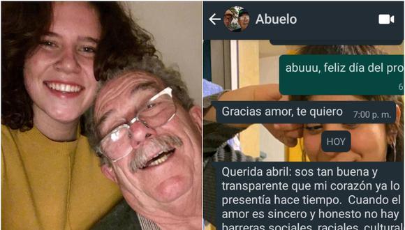 La emocionante respuesta que recibió una joven, luego de contarle a sus abuelos que es lesbiana. El mensaje se volvió viral en Internet. (Fotos: La Nacion y @Abycouceiro)