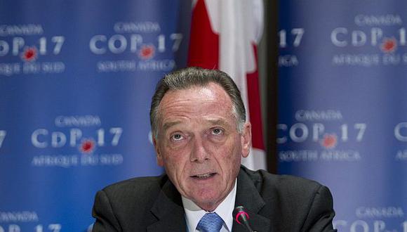 Ministro Peter Kent invocó el derecho legal del país de abandonar formalmente el pacto. (Reuters)