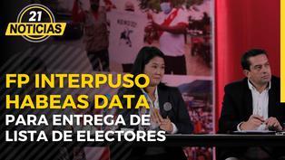Fuerza Popular interpuso Hábeas Data