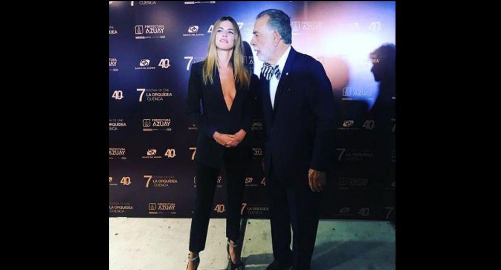 Stephanie Cayo deslumbra en el Festival de Cine La Orquídea en Cuenca. (Instagram Stephanie Cayo)