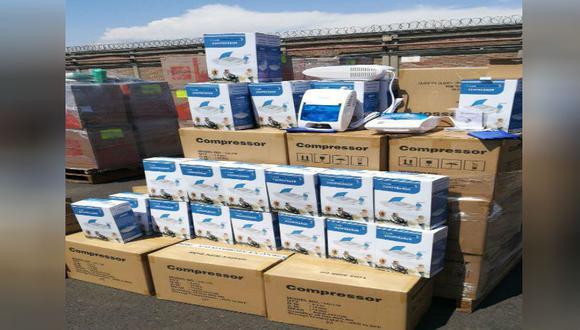 El importador pretendía retirar de un depósito mercancías declaradas como compresoras para inflar neumáticos de vehículos. (Foto: Sunat)