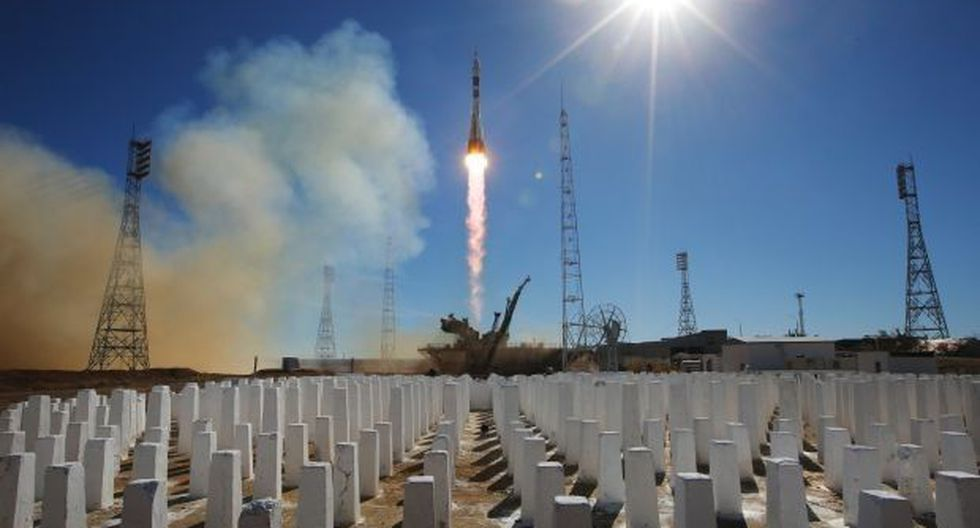 Lanzamiento de la Soyuz MS-10 desde el cosmódromo de Baikonur (Kazajistán). (Foto: EFE)