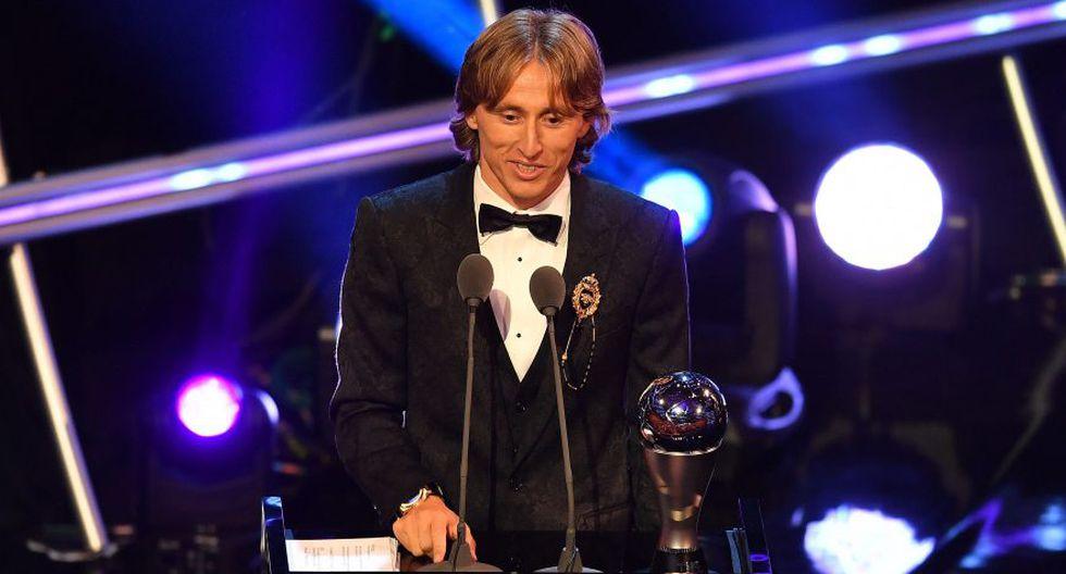Luka Modric también ganó el Balón de Oro del Mundial y el mejor de UEFA (Foto: AFP).