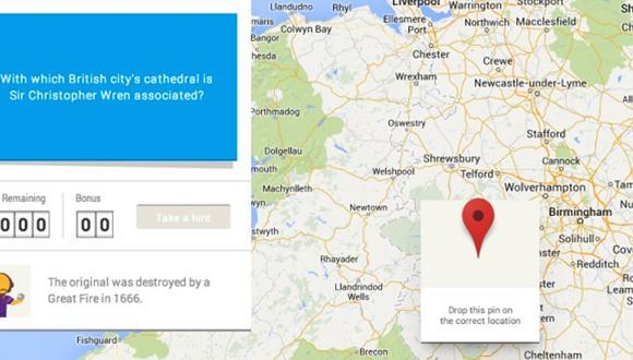 Así es Smarty Pins, el mapa de Google Maps que reta tu cultura general, al igual que sigues aprendiendo. (Foto: Google)