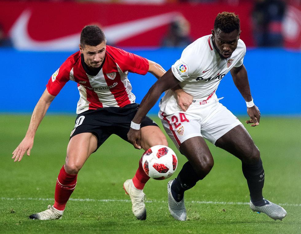 Sevilla perdió 1-0 ante Athletic Bilbao, pero avanzó en la Copa del Rey. (EFE)