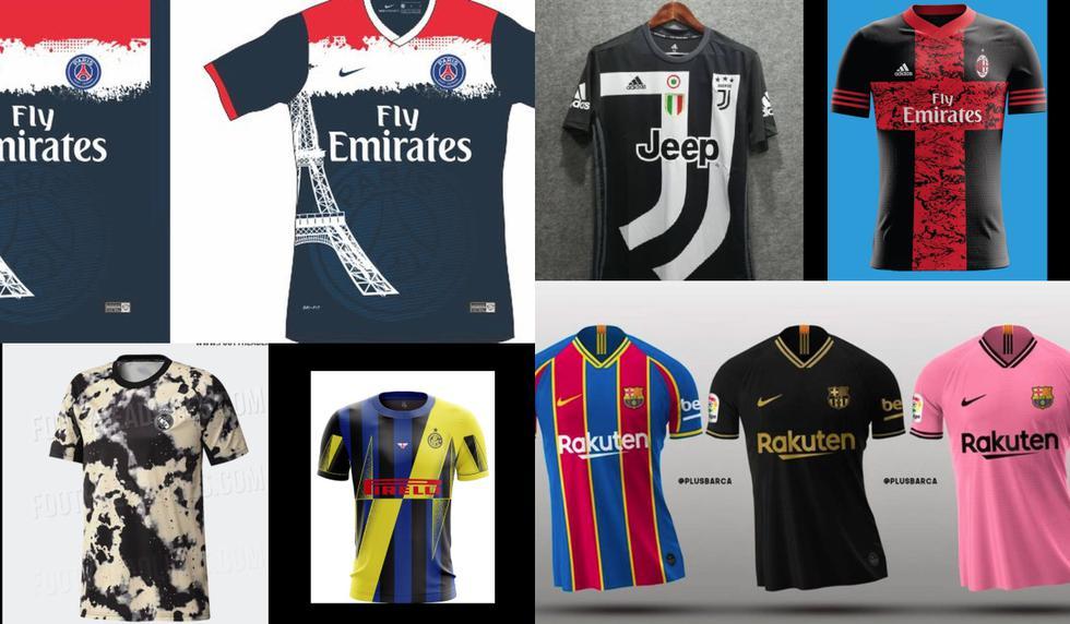 Las camisetas más inéditas de los grandes clubes de Europa que nunca vieron la luz [FOTOS]