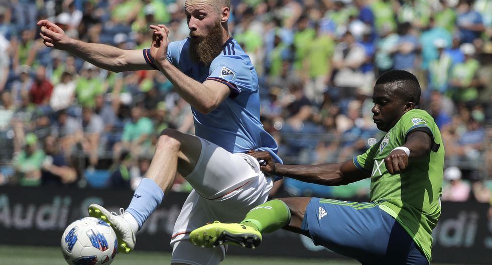 Seattle Sounders vs New York City: Equipo de Ruidíaz y Callens gana 2-0 por la MLS de Estados Unidos. (AP)