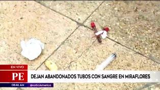 Miraflores: hallan jeringas y tubos con muestras de sangre en la vía pública