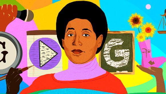 El doodle interactivo que presentó Google, en honor a Audre Lorde, fue ilustrado por la artista Monica Ahanonu. (Foto: Google)