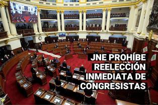Elecciones 2021: JNE resolvió la prohibición de reelección inmediata de congresistas