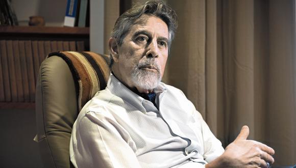 Francisco Sagasti cuestionó la presentación de una nueva moción de vacancia contra el presidente Martín Vizcarra. (Foto: Renzo Salazar / GEC)