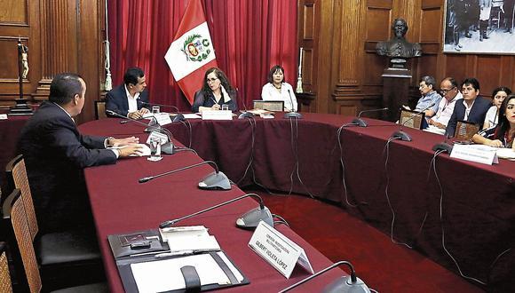 en agenda. Grupo legislativo será recibido en Palacio de Gobierno. (USI)