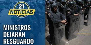Consejo de Ministros dejará resguardo policial