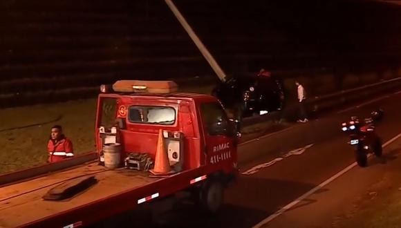 No hubo heridos ni fallecidos. (Foto: Captura/América Noticias)