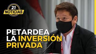 Guido Bellido petardea la inversión privada