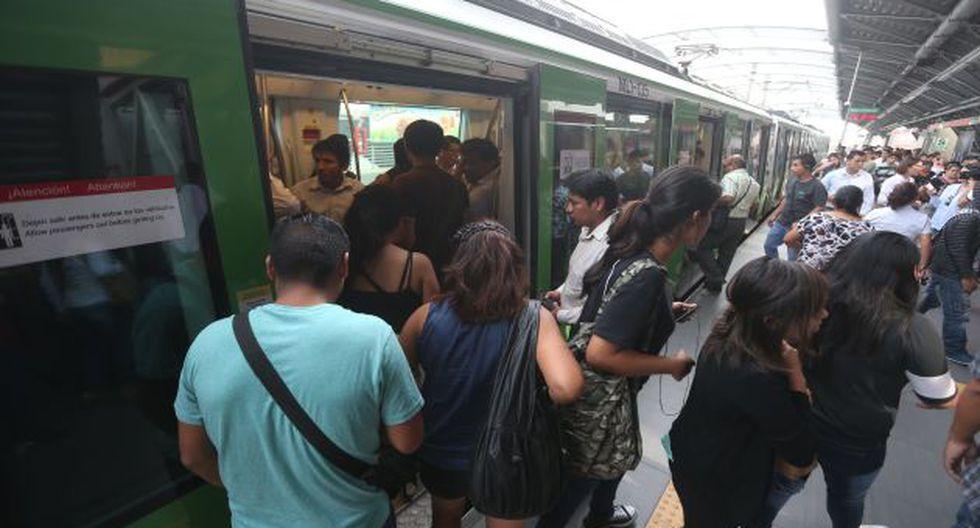 Pasajeros quedaron varados por fallas en el servicio del Metro de Lima. (USI)