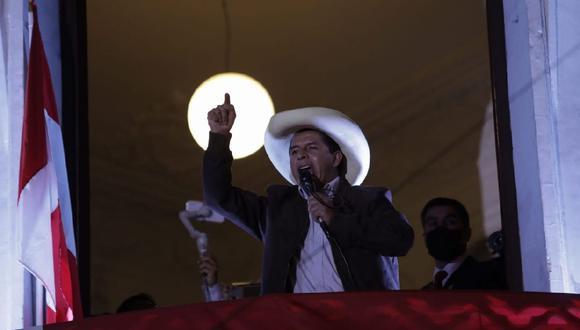 Pedro Castillo recibió la visita de dos congresistas de Acción Popular. (Foto: Anthony Niño de  Guzmán/ GEC)