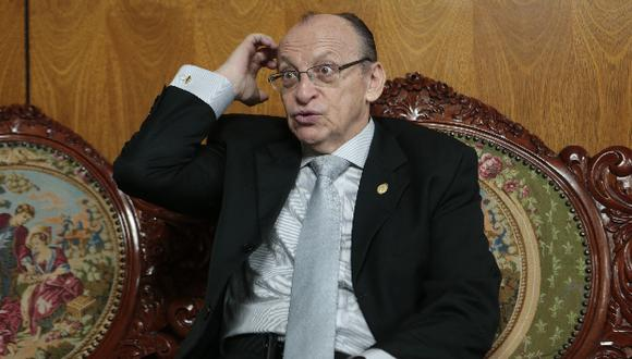 Exfiscal de la Nación, José Peláez, podría ser suspendido por caso 'La Centralita'. (Mario Zapata)