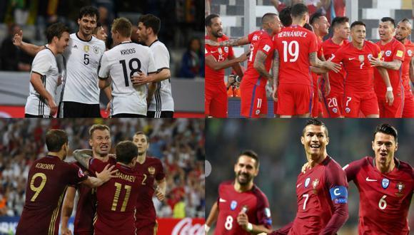 Chile compartirá grupo con Alemania. (Composición)