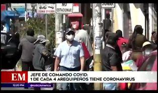 Arequipa reporta nuevos casos de contagios de COVID-19